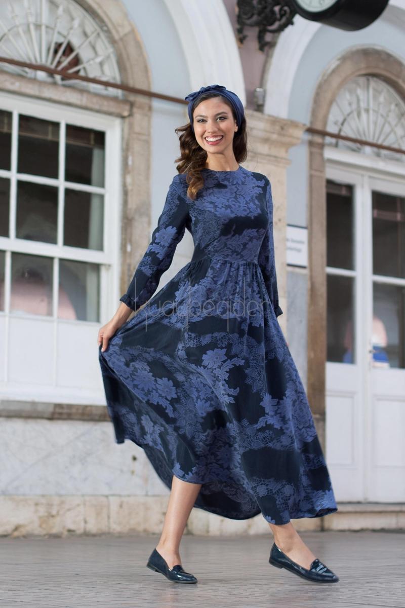 Kuaybe Gider - 2034 Desenli Elbise