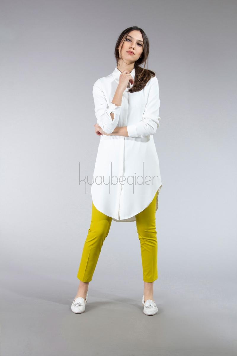 Kuaybe Gider - Fıstık Yeşili Daisy Pantolon