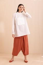 1047 Gömlek Beyaz - Thumbnail