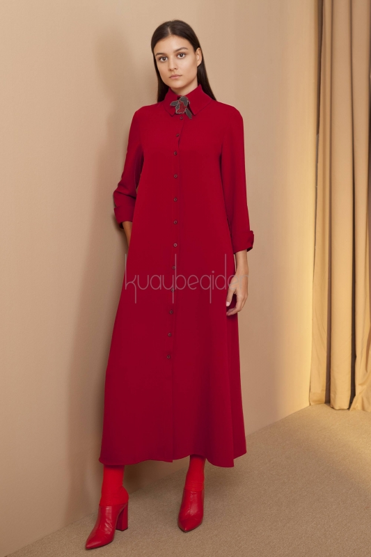 Kuaybe Gider - 2057 Elbise Kırmızı