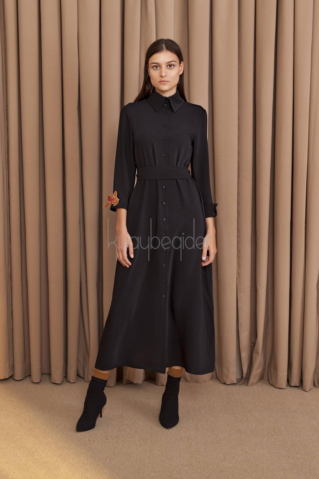 Kuaybe Gider - 2057 Elbise Siyah