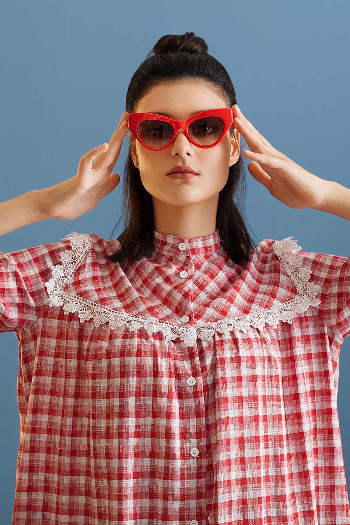 Kuaybe Gider - 2072 Elbise Kırmızı