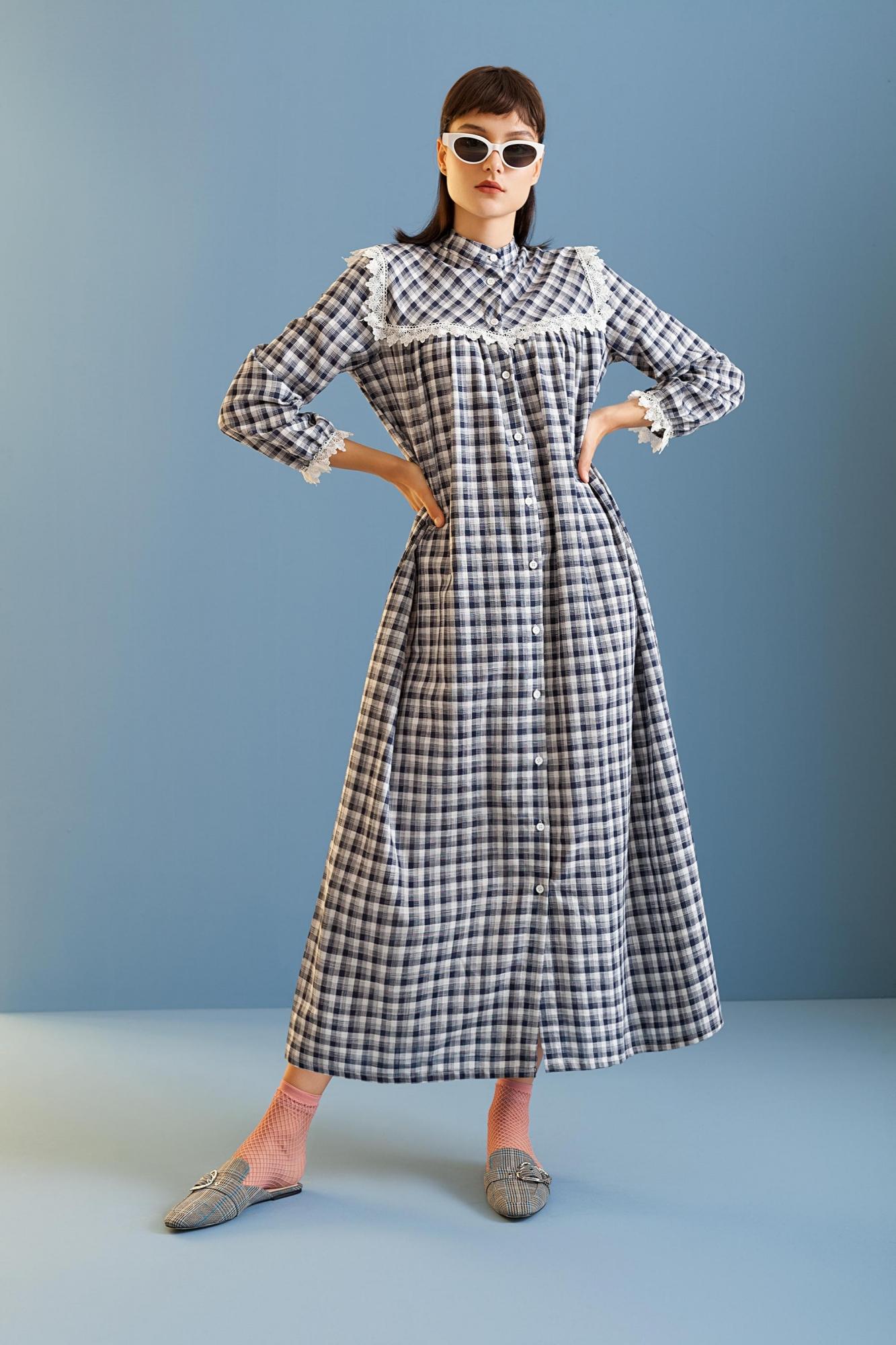 Kuaybe Gider - 2072 Elbise Lacivert