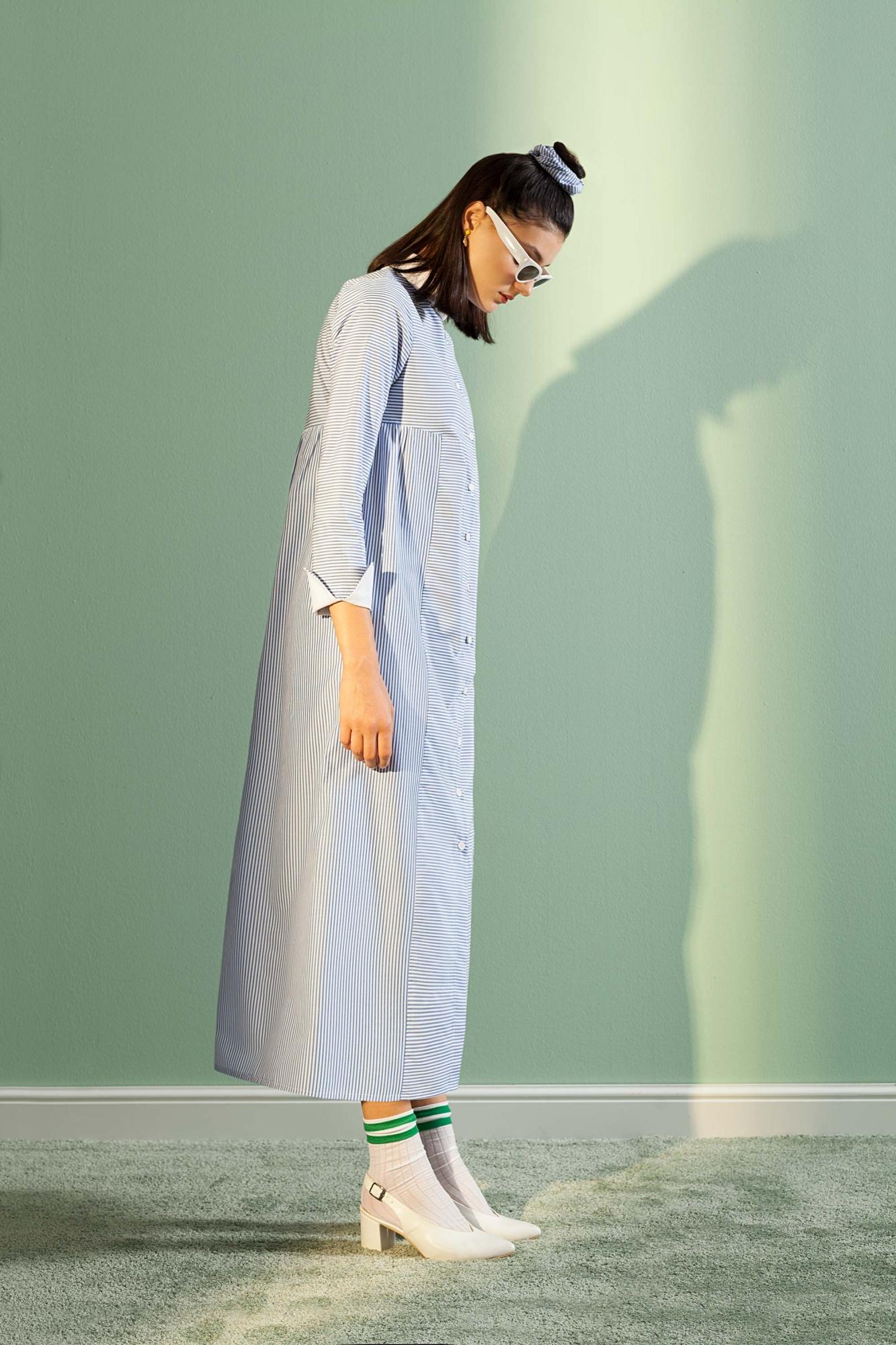 Kuaybe Gider - 2075 Elbise Mavi