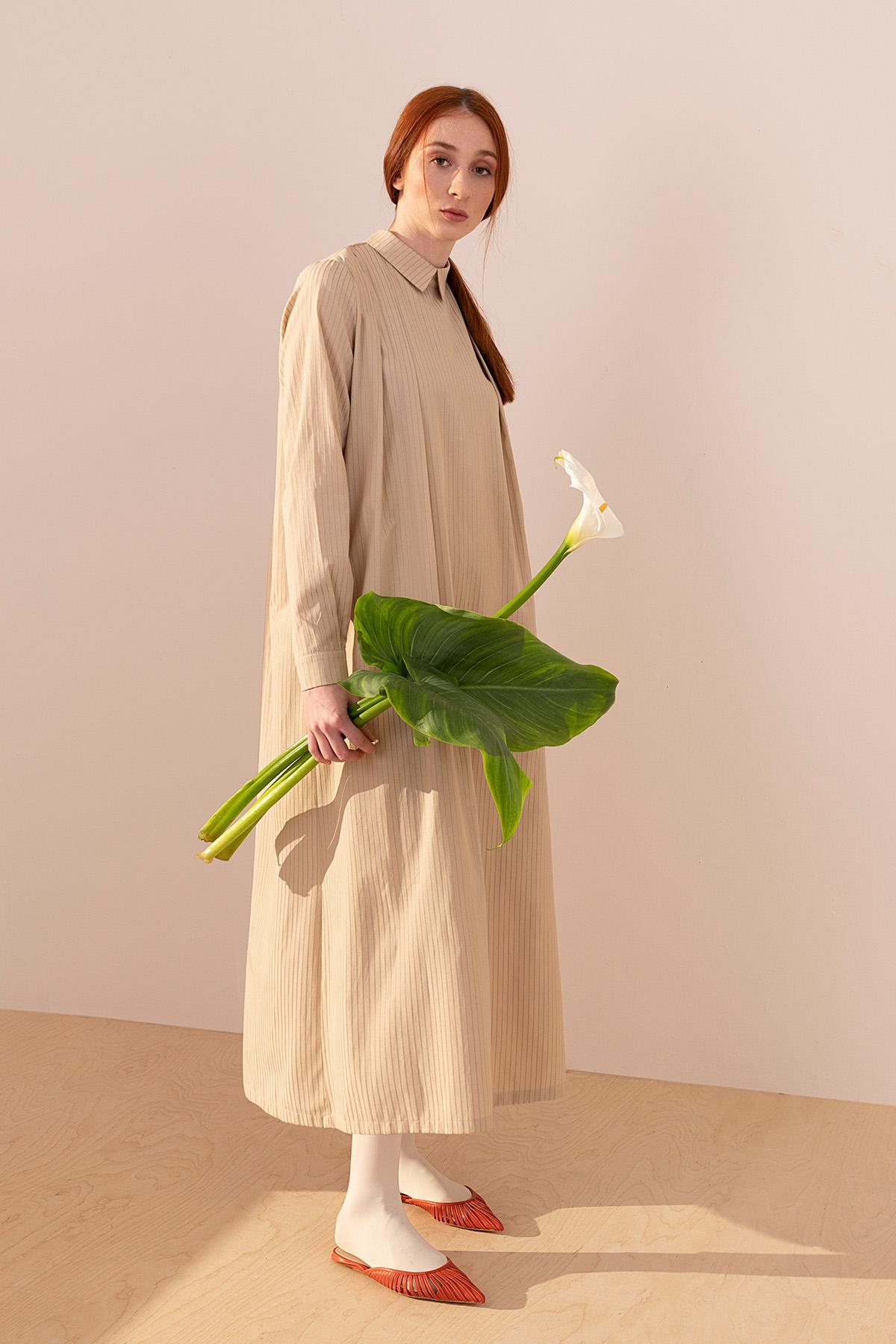 - 2085 Elbise Bej
