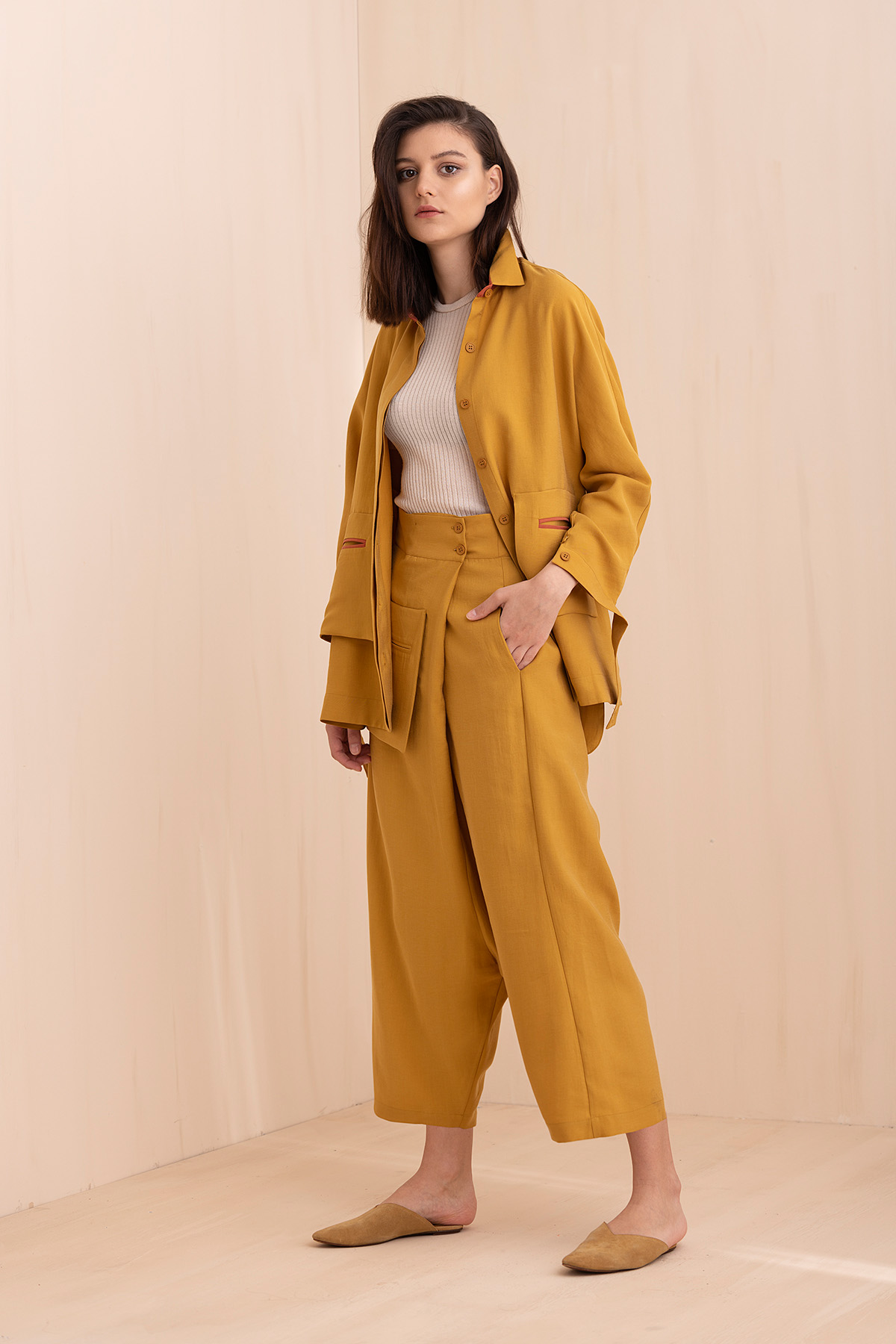 - 4061 Pantolon Sarı