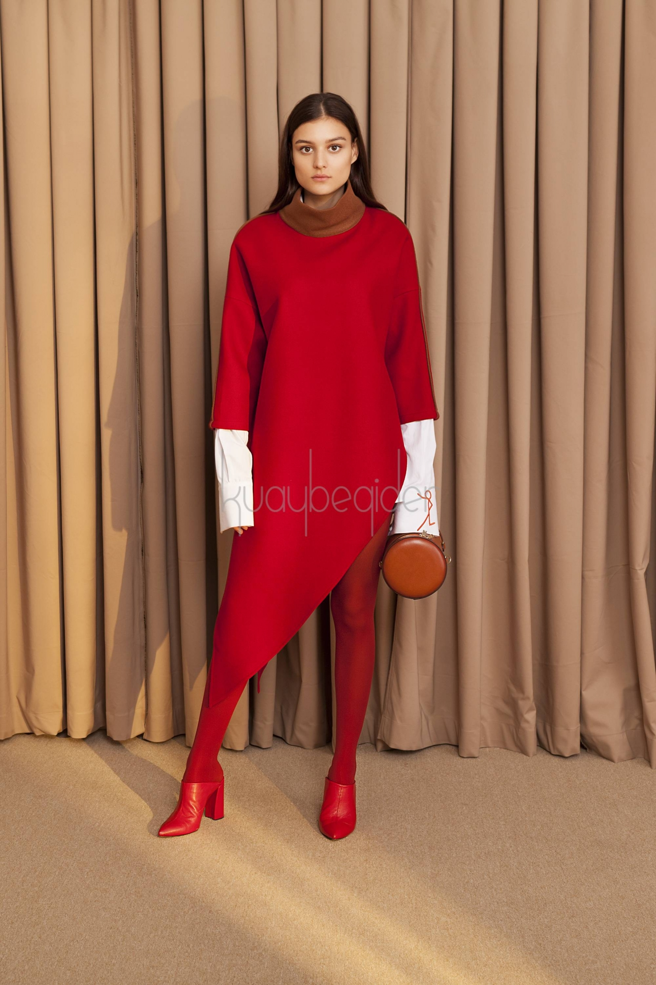 Kuaybe Gider - 5093 Tunik Kırmızı