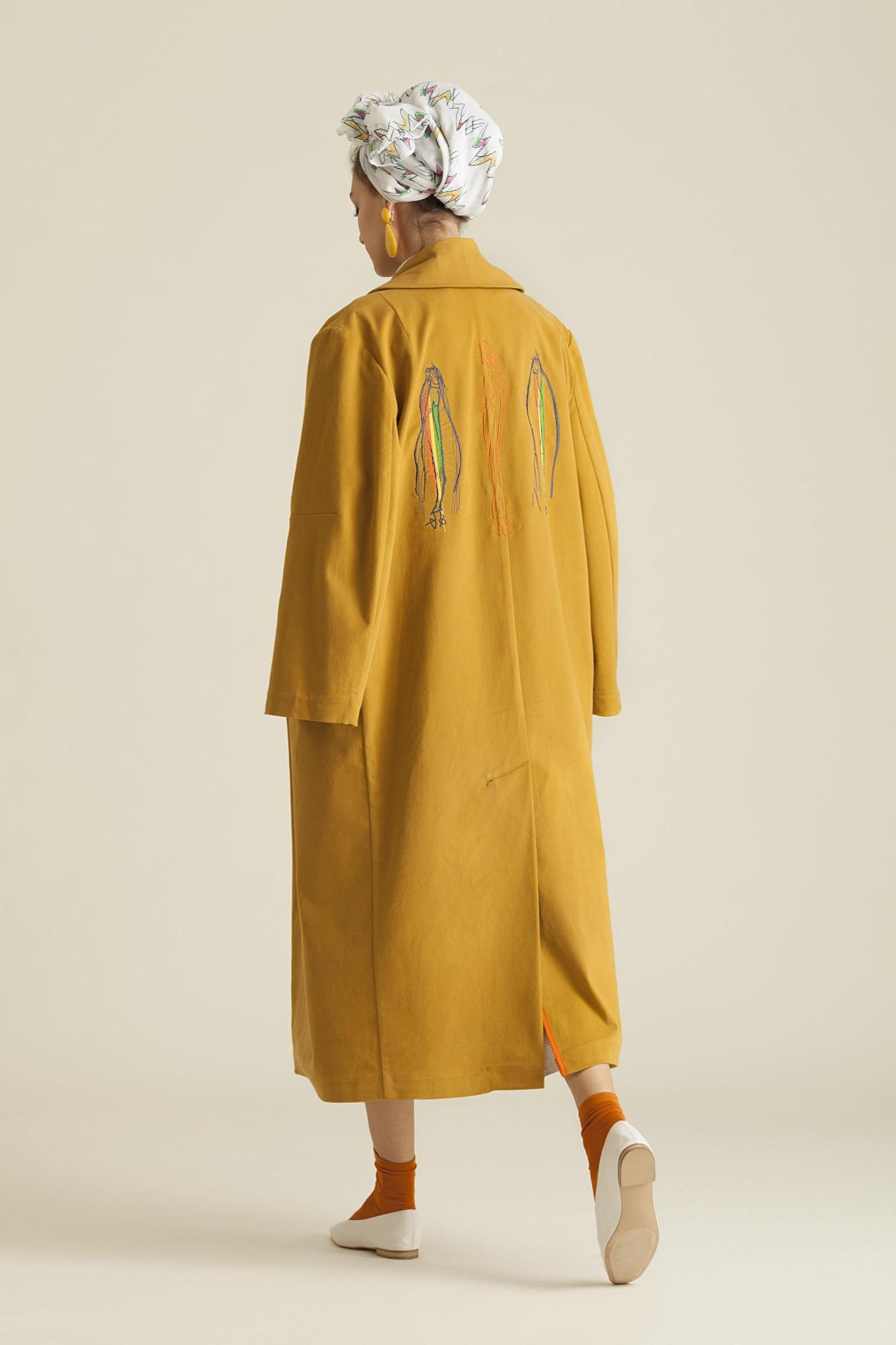 7072 Trenchcoat Sarı