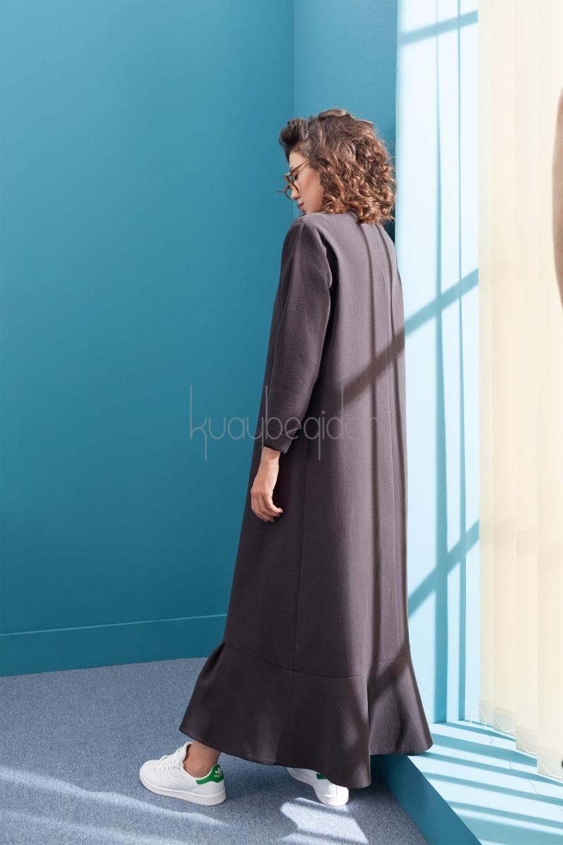 Kuaybe Gider - Antrasit Stolz Valonlu Elbise