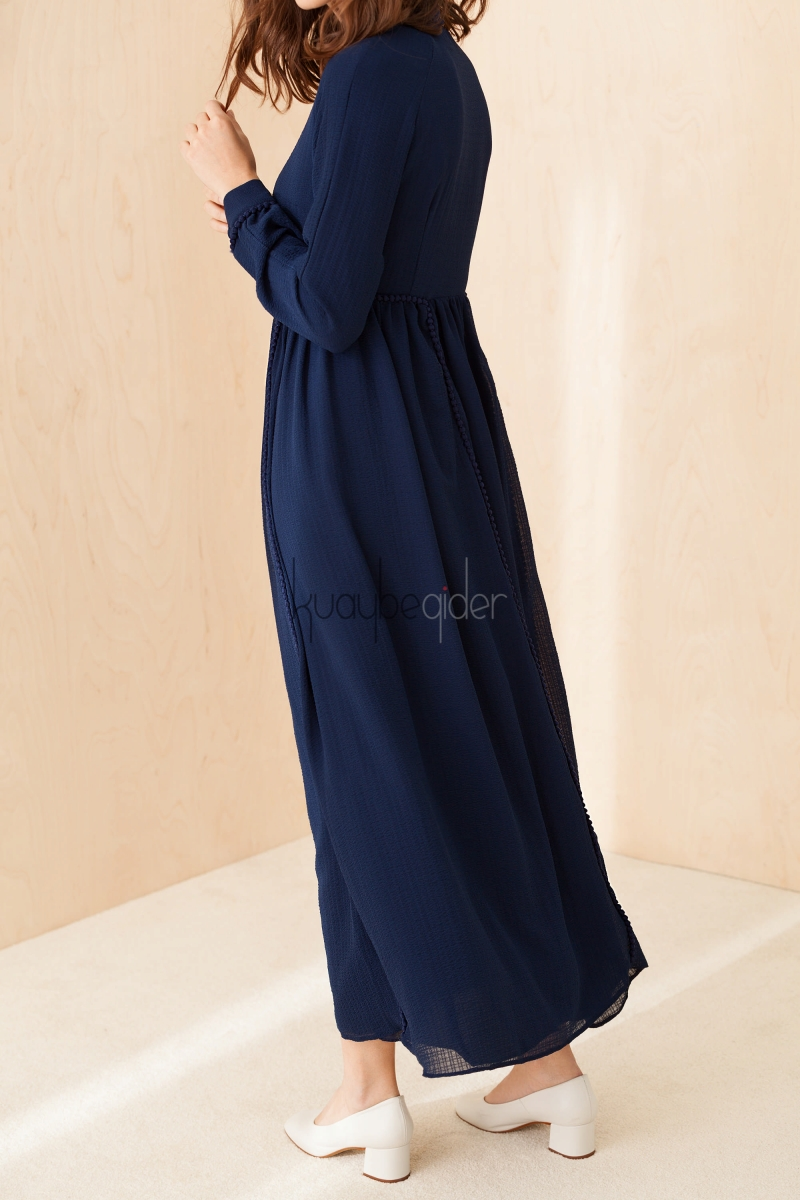 Kuaybe Gider - Lacivert Aspen Elbise