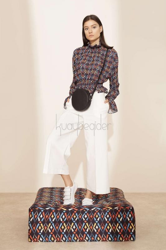 Kuaybe Gider - Beyaz Sole Pantolon