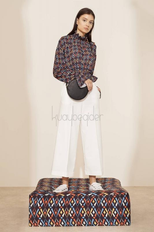 Kuaybe Gider - Beyaz Sole Pantolon (1)