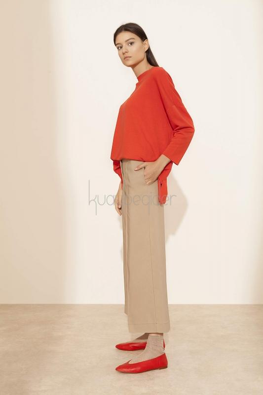 Kuaybe Gider - Camel Sole Pantolon (1)