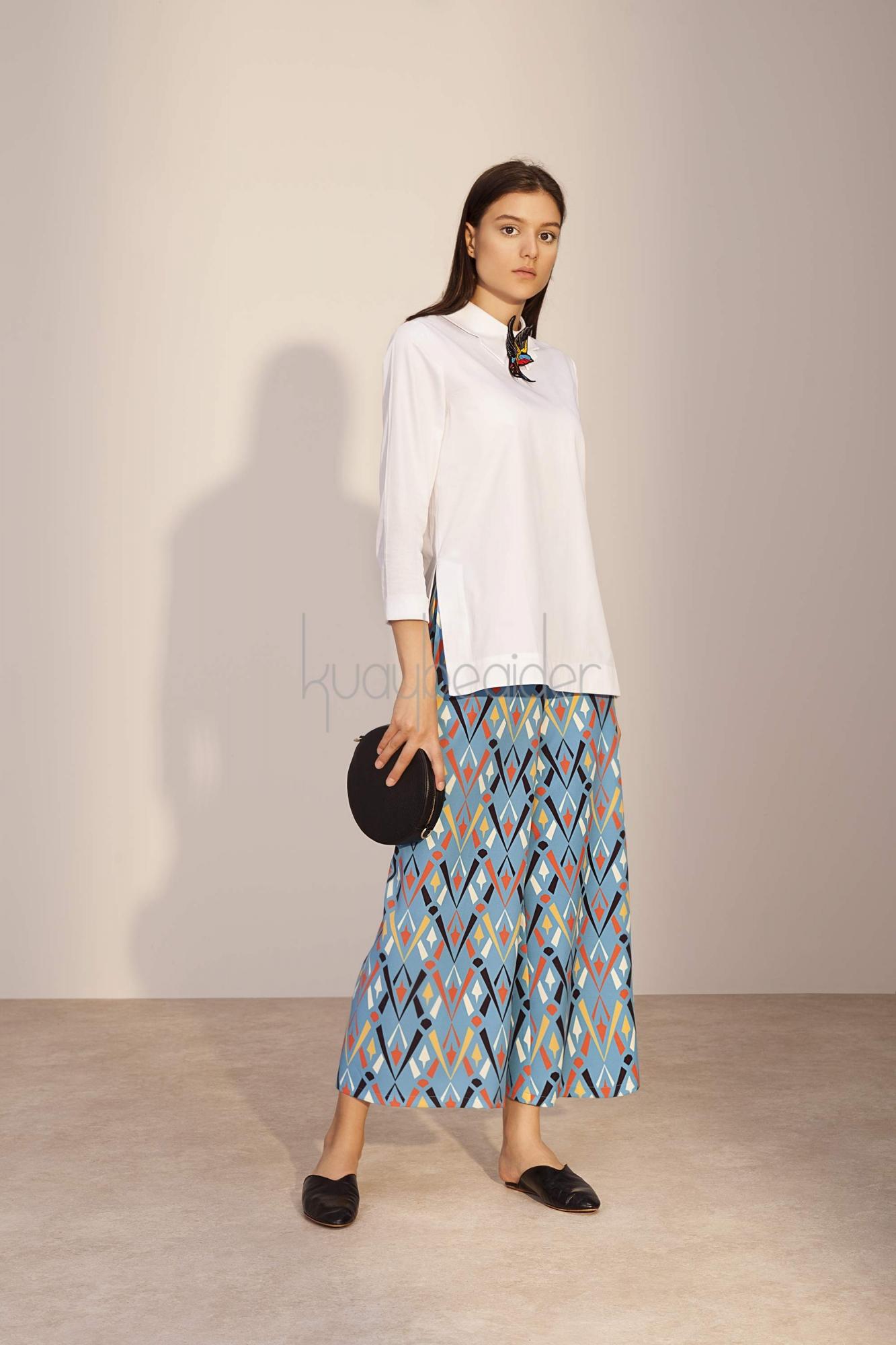 Kuaybe Gider - Coton Beyaz Luce Tunik