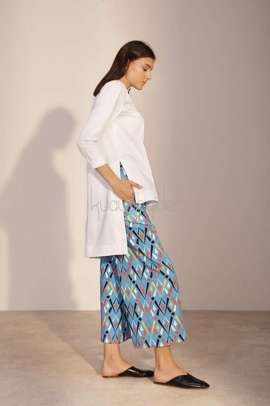 Kuaybe Gider - Coton Beyaz Luce Tunik (1)