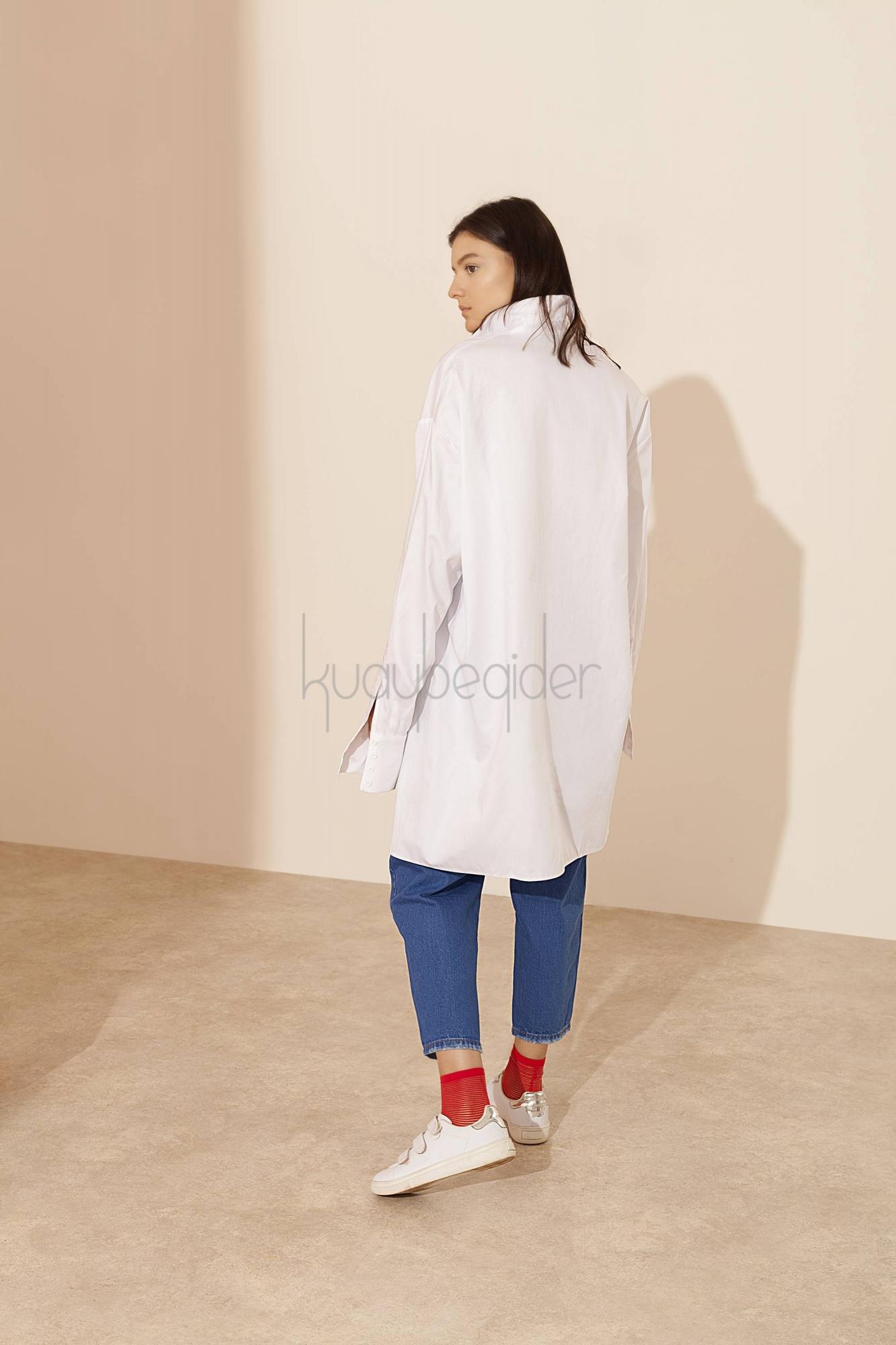 Coton Beyaz Yolo Tunik