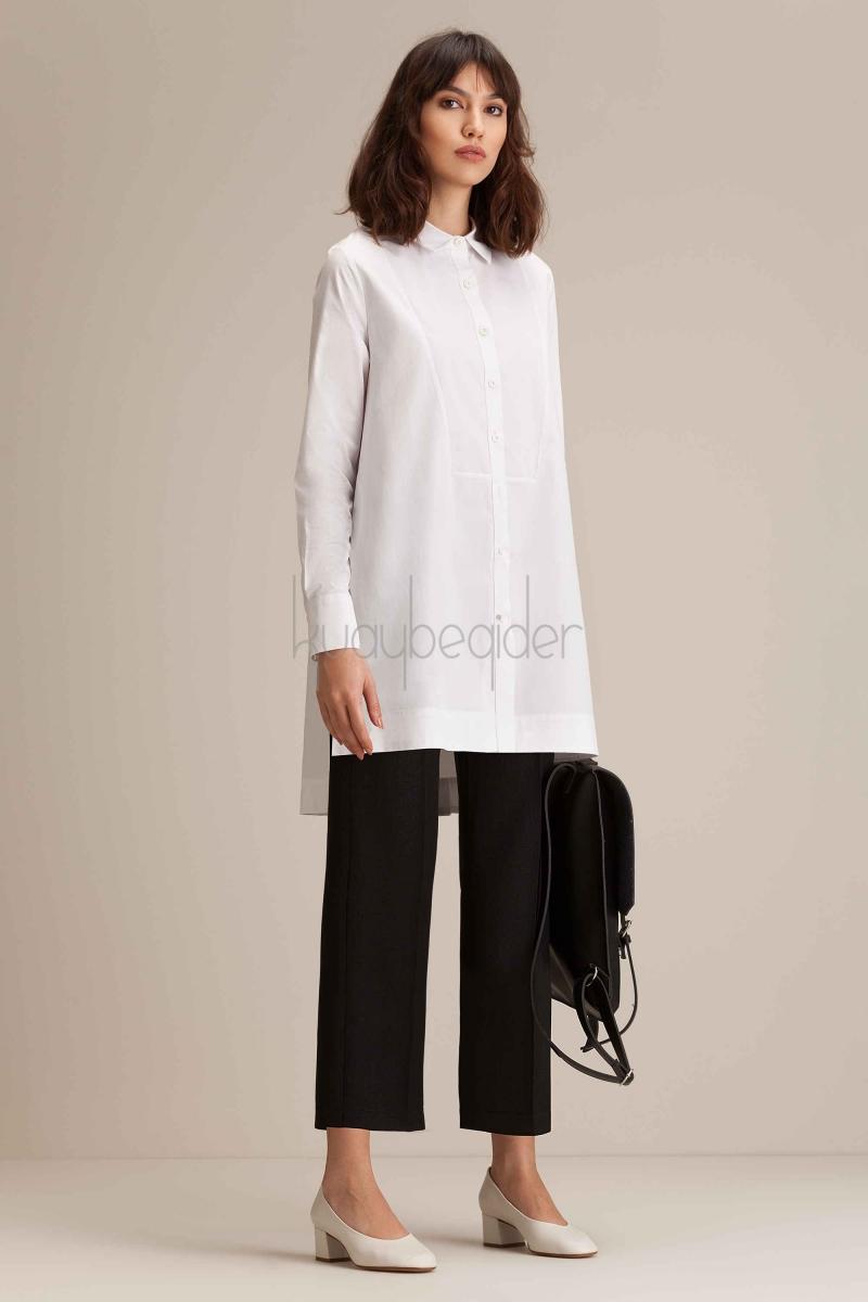 Kuaybe Gider - Coton Miroir Gömlek