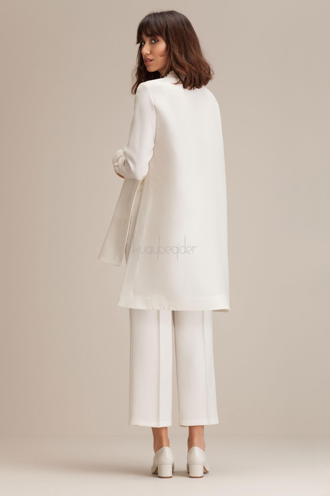 Kuaybe Gider - Ekru Miroir Pantolon