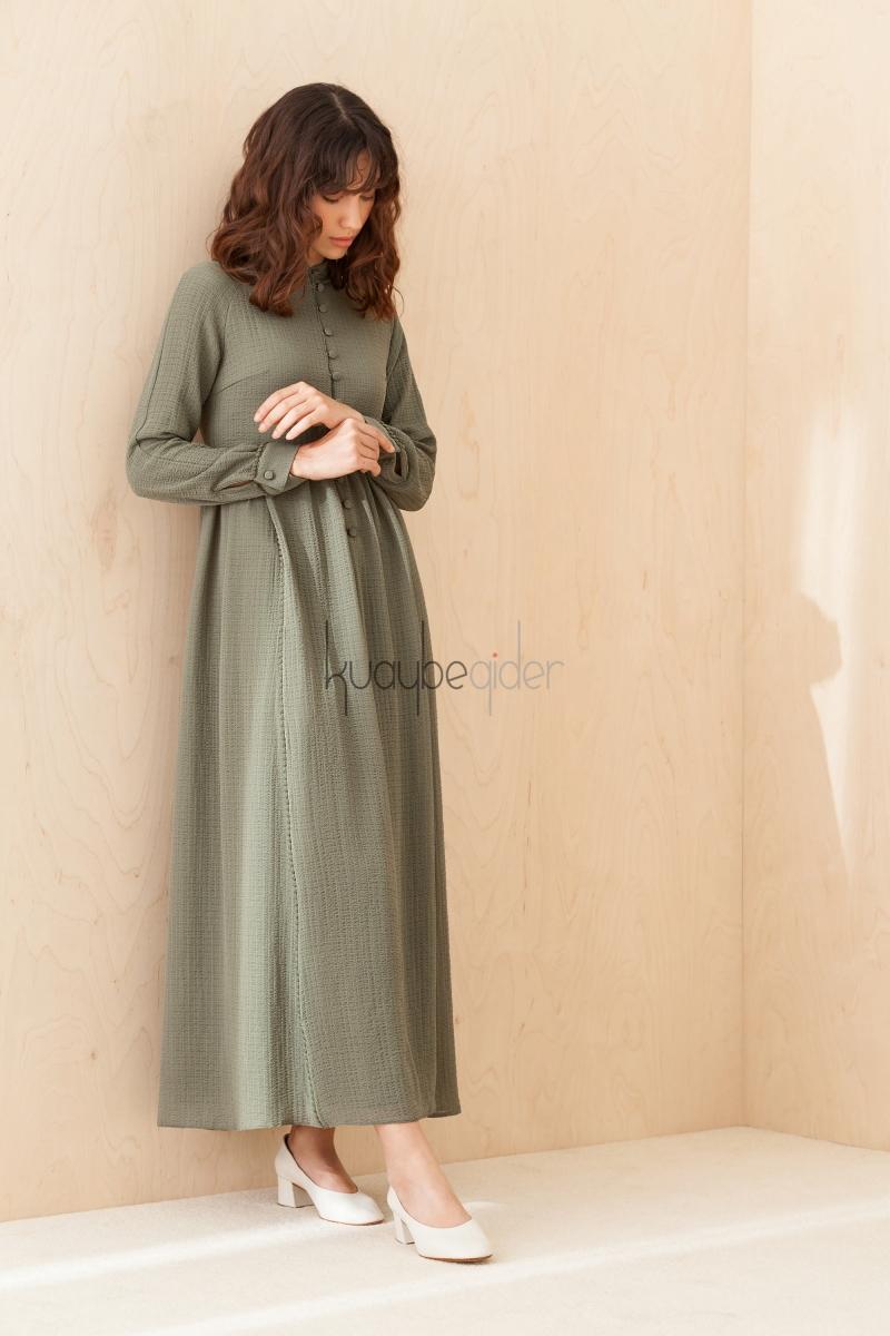 Kuaybe Gider - Haki Aspen Elbise