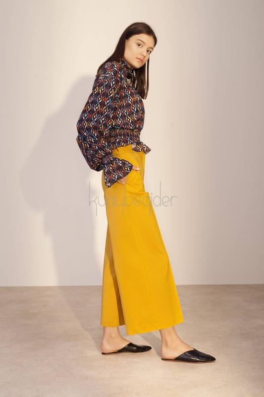 Kuaybe Gider - Hardal Sole Pantolon (1)