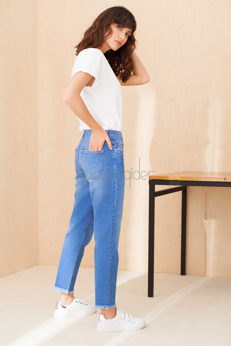 Kuaybe Gider - Koyu Mavi Denim Pantolon
