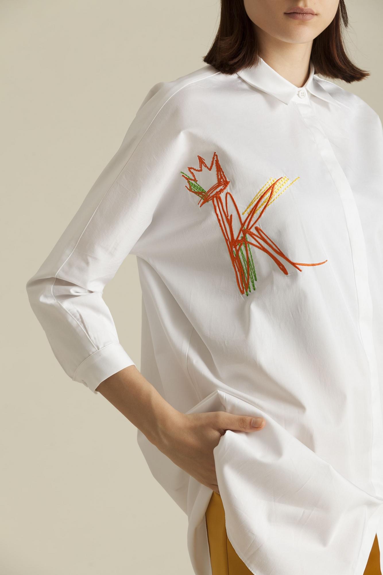 Kuaybe Gider - 1038 Gömlek Beyaz-Nar