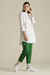 1039 Gömlek Beyaz - Thumbnail
