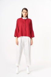 1043 Gömlek Kırmızı - Thumbnail