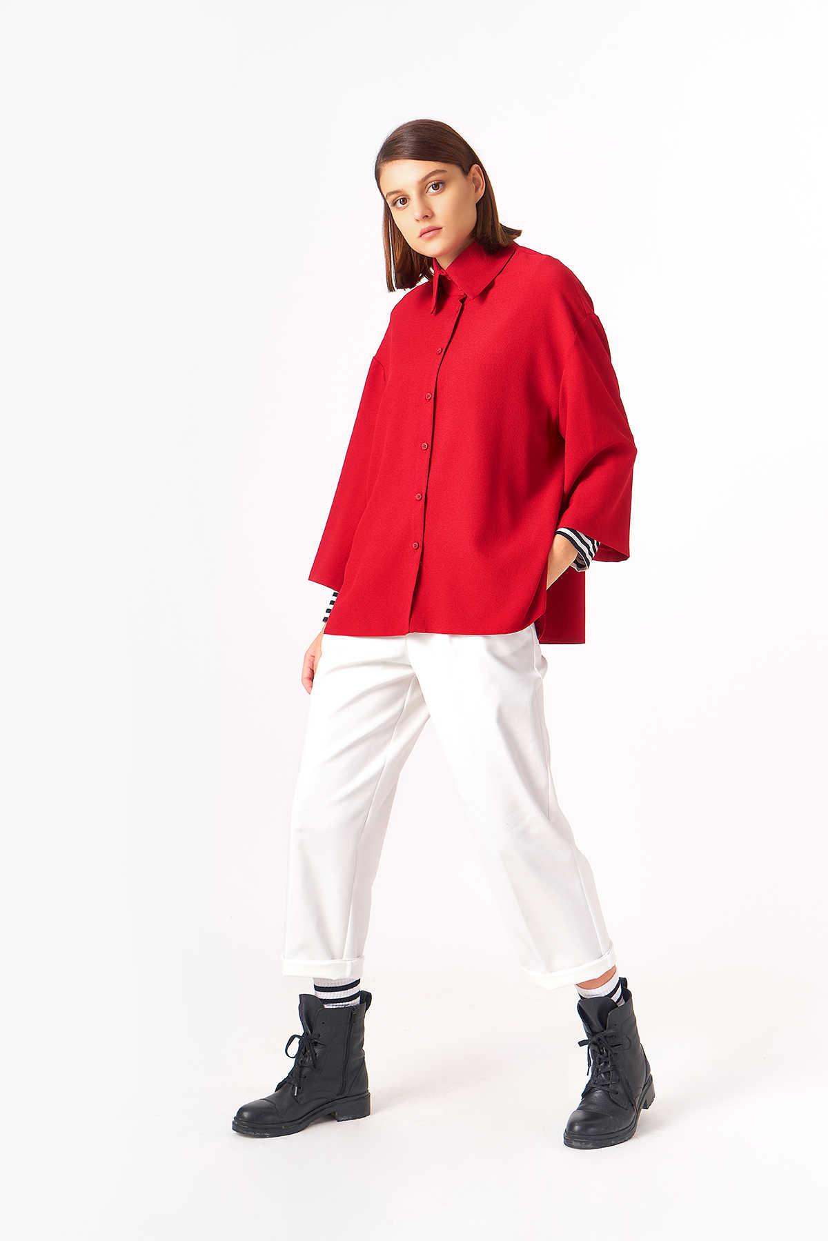 1043 Gömlek Kırmızı