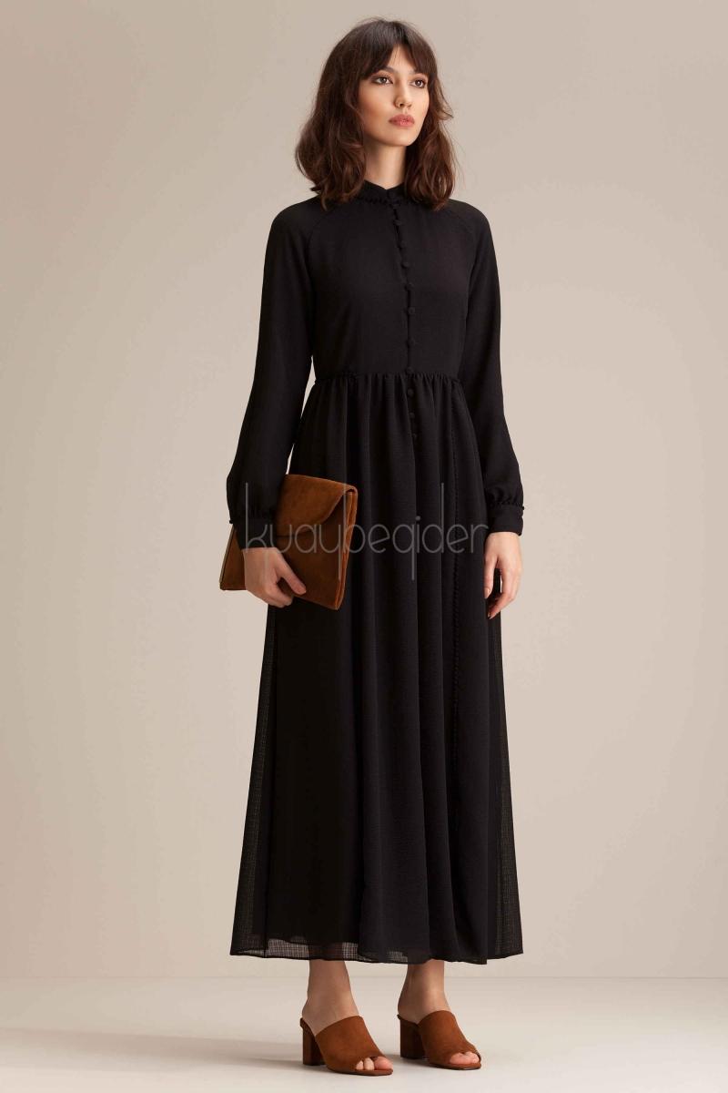 Kuaybe Gider - 2040 Siyah Aspen Elbise
