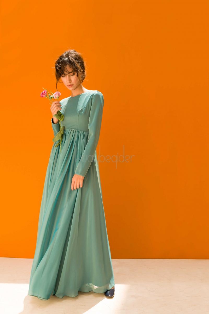 Kuaybe Gider - 2041 Yeşil Alba Abiye Elbise