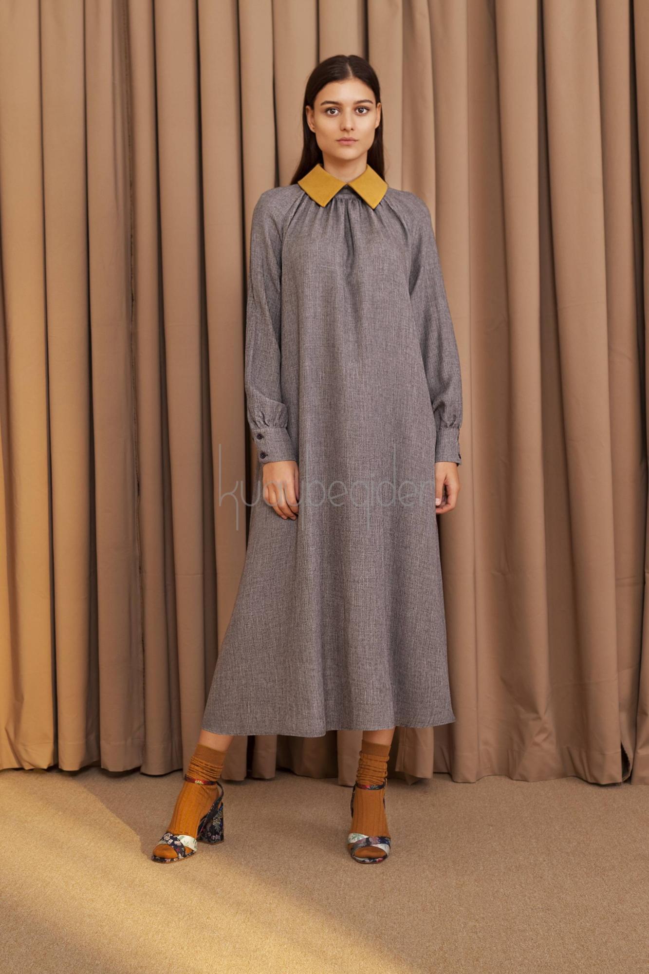 Kuaybe Gider - 2053 Elbise Gri