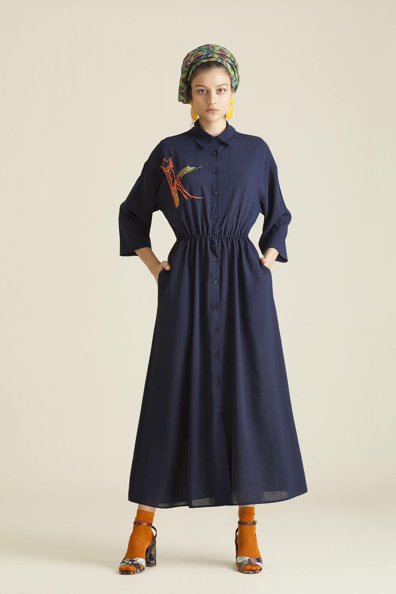 Kuaybe Gider - 2060 Elbise Lacivert