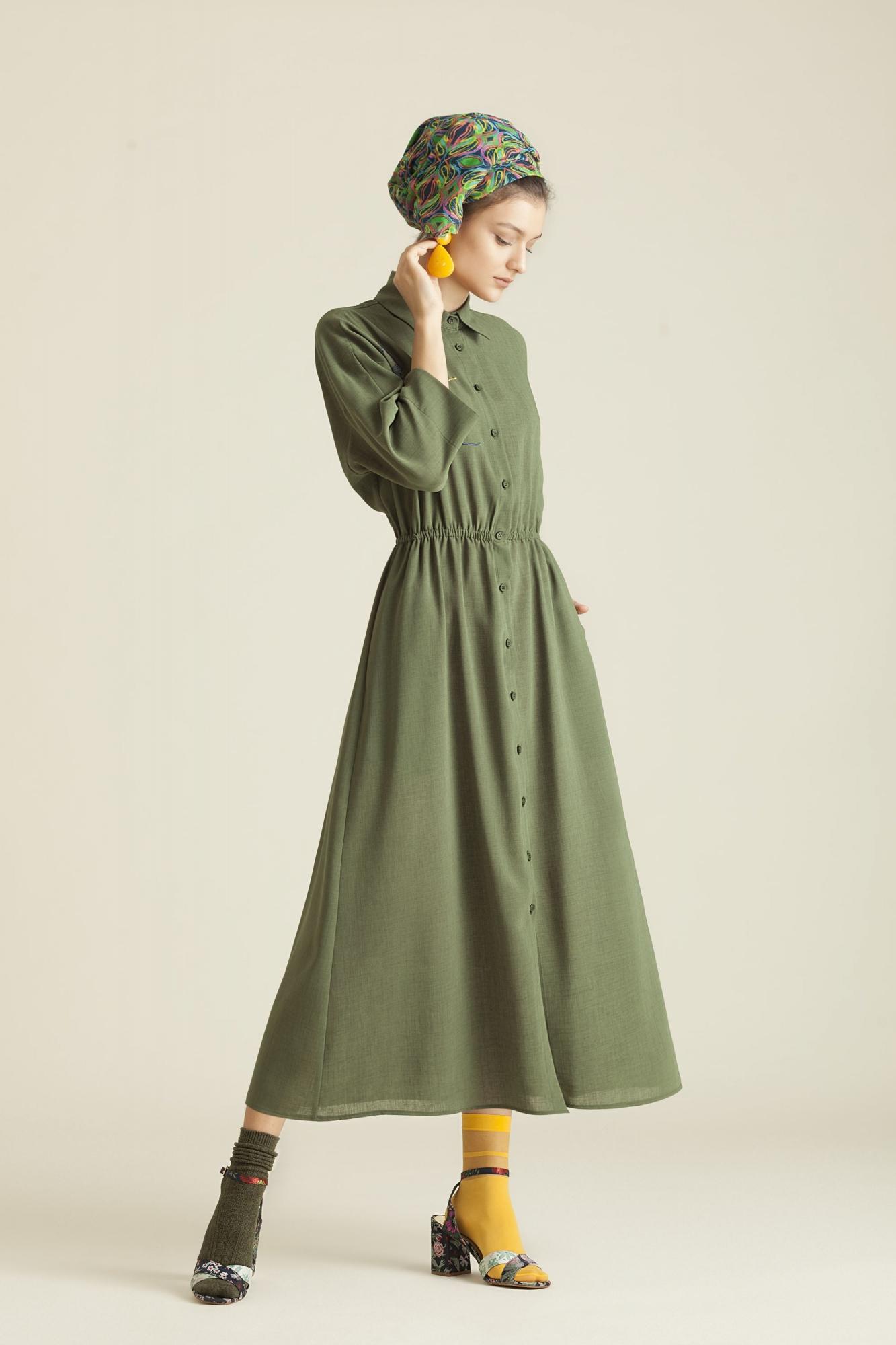 Kuaybe Gider - 2060 Elbise Yeşil