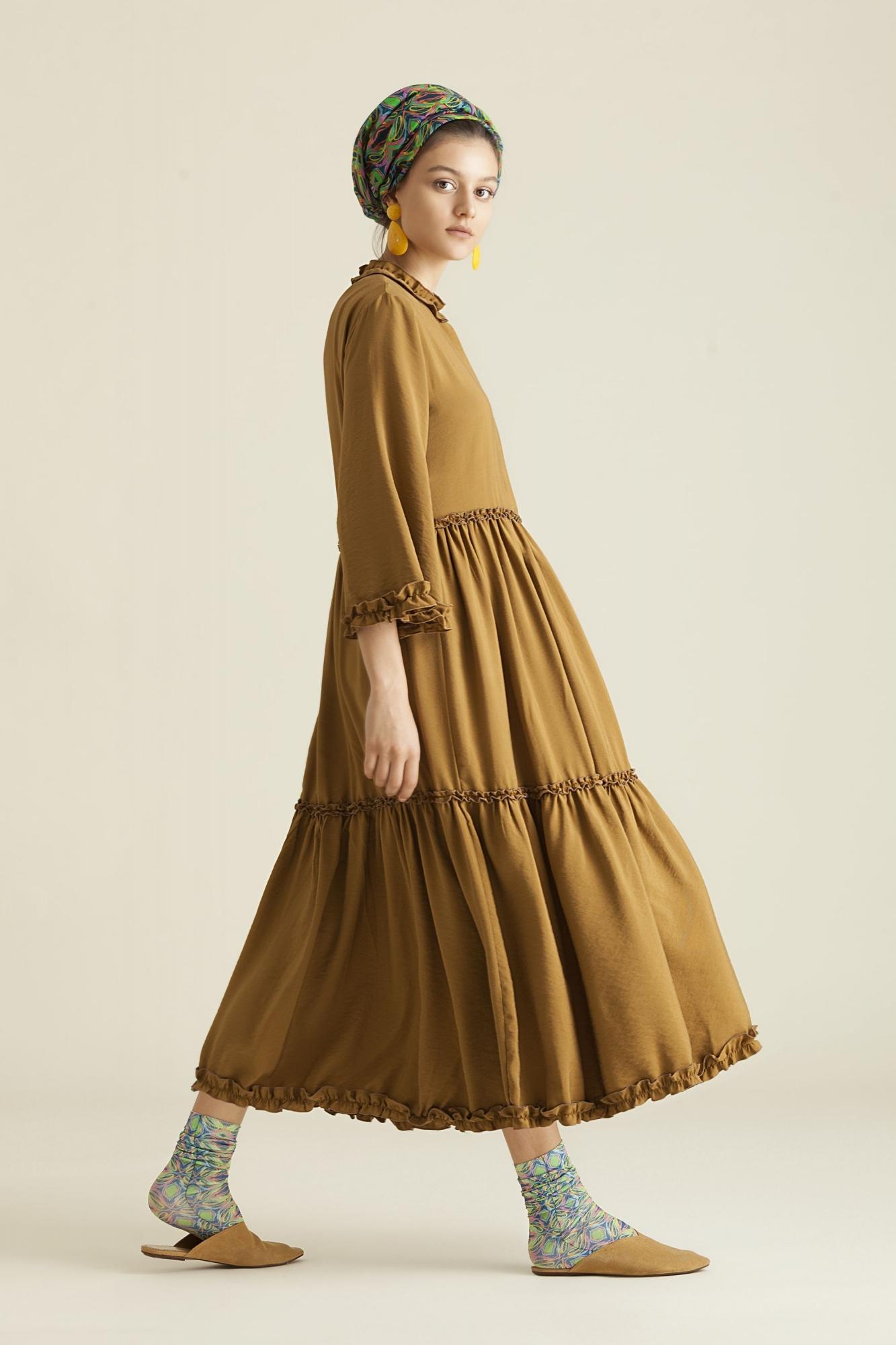 Kuaybe Gider - 2061 Elbise Hardal