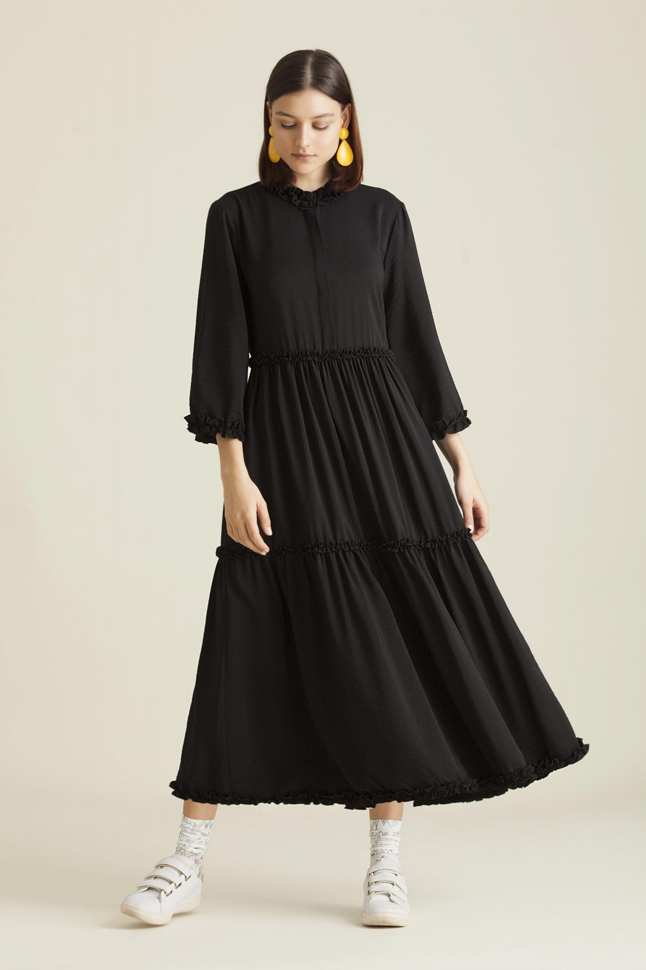 Kuaybe Gider - 2061 Elbise Siyah