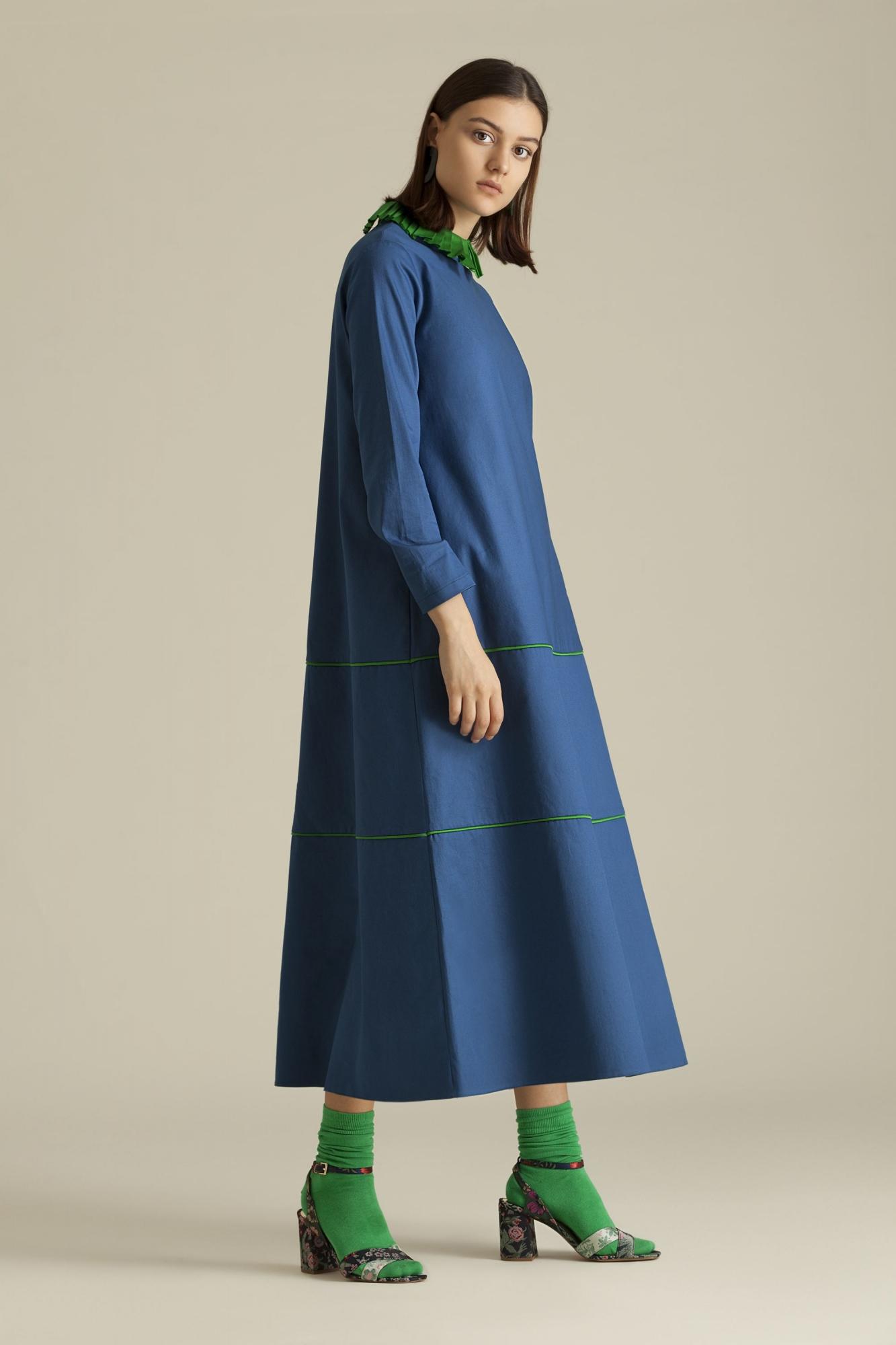Kuaybe Gider - 2064 Elbise İndigo