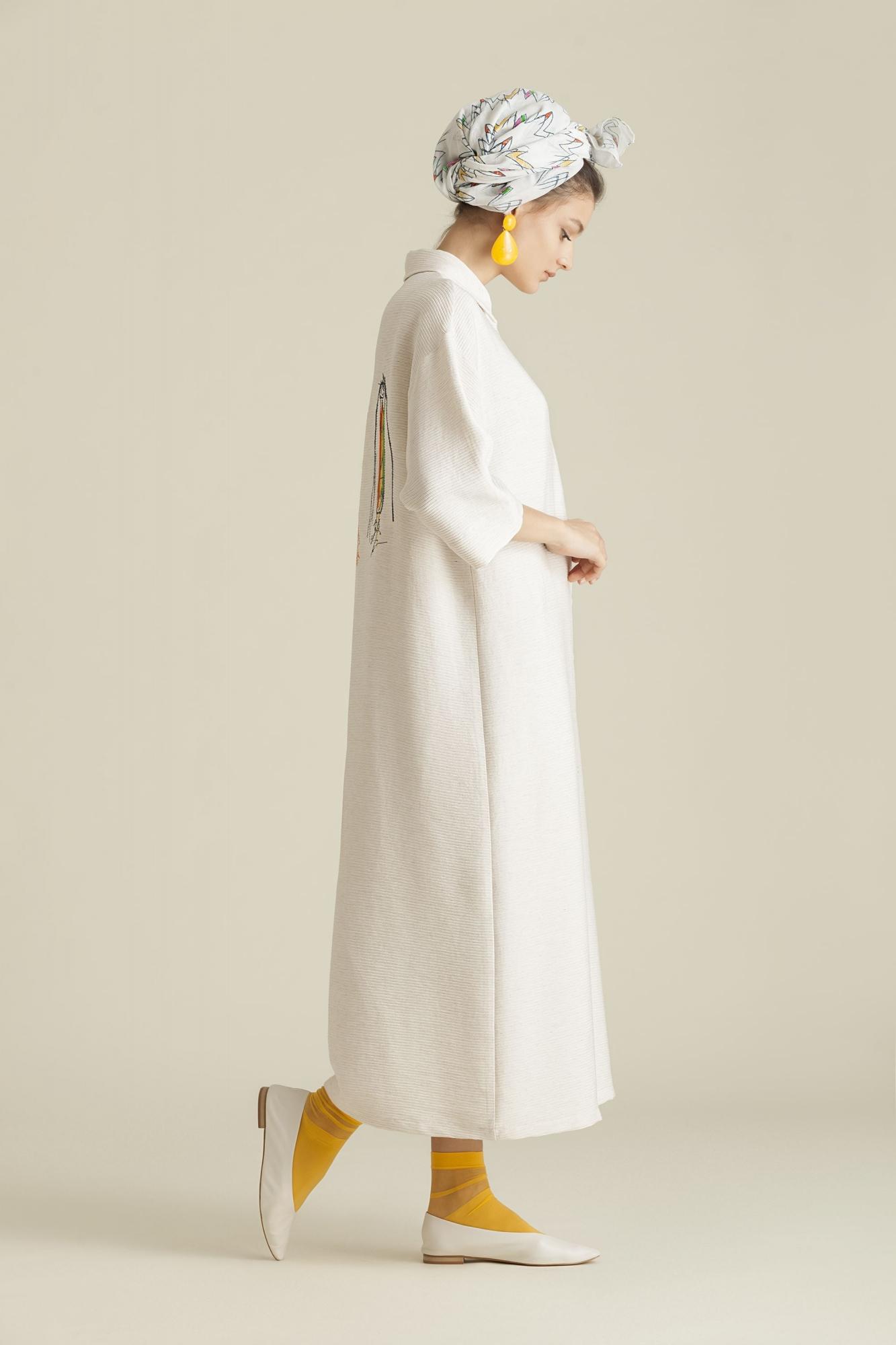 Kuaybe Gider - 2066 Elbise Ekru
