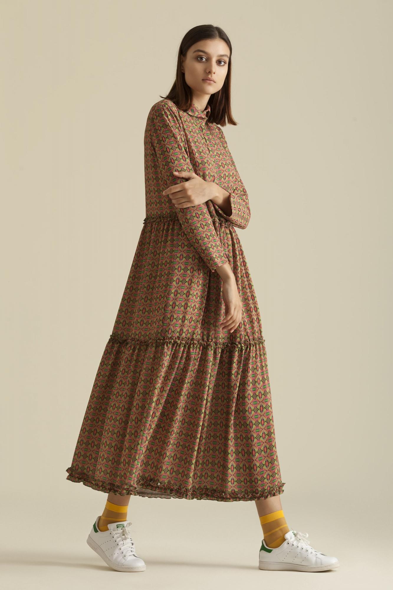 Kuaybe Gider - 2067 Elbise Desenli Nar