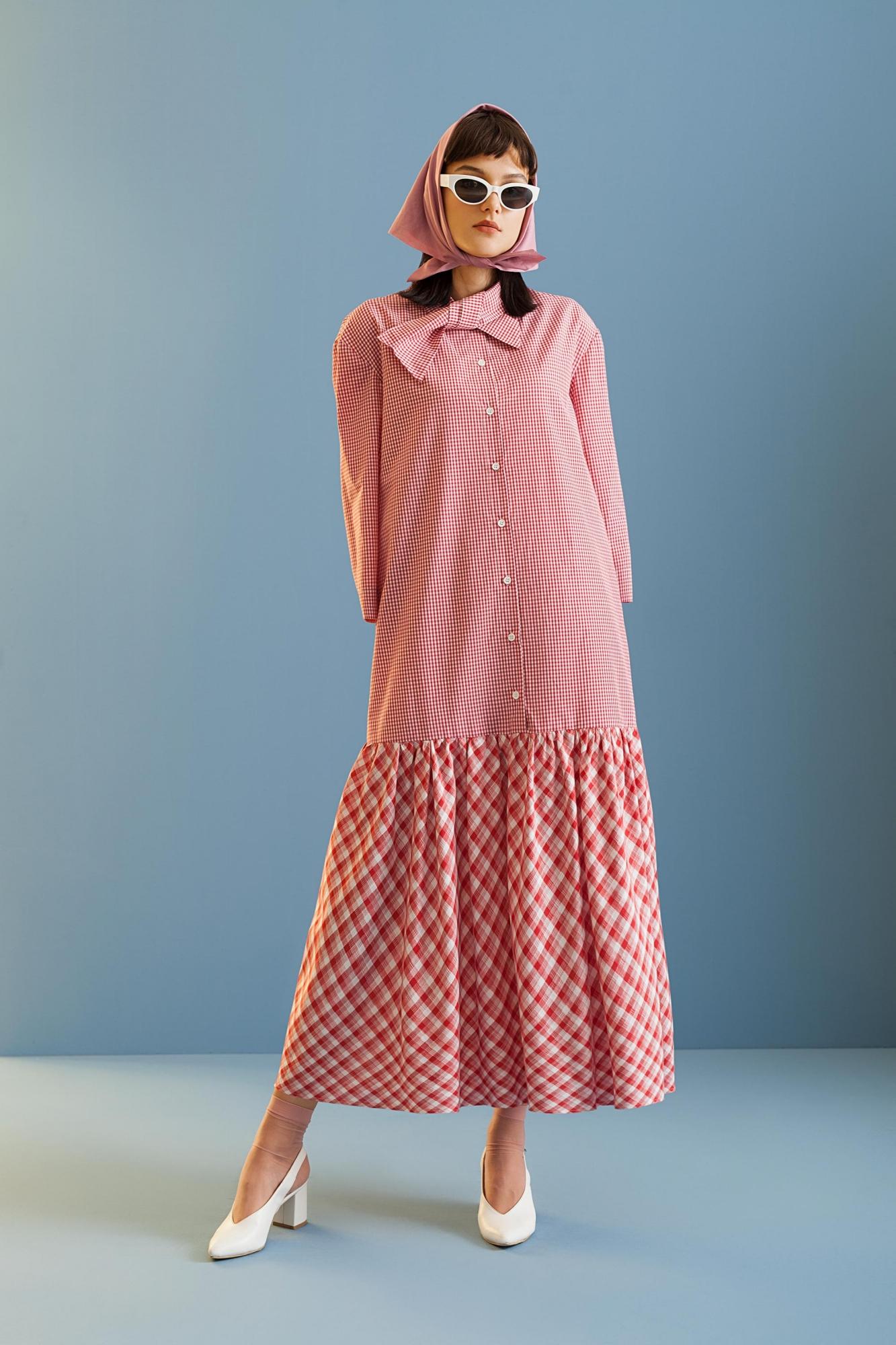 Kuaybe Gider - 2070 Elbise Kırmızı