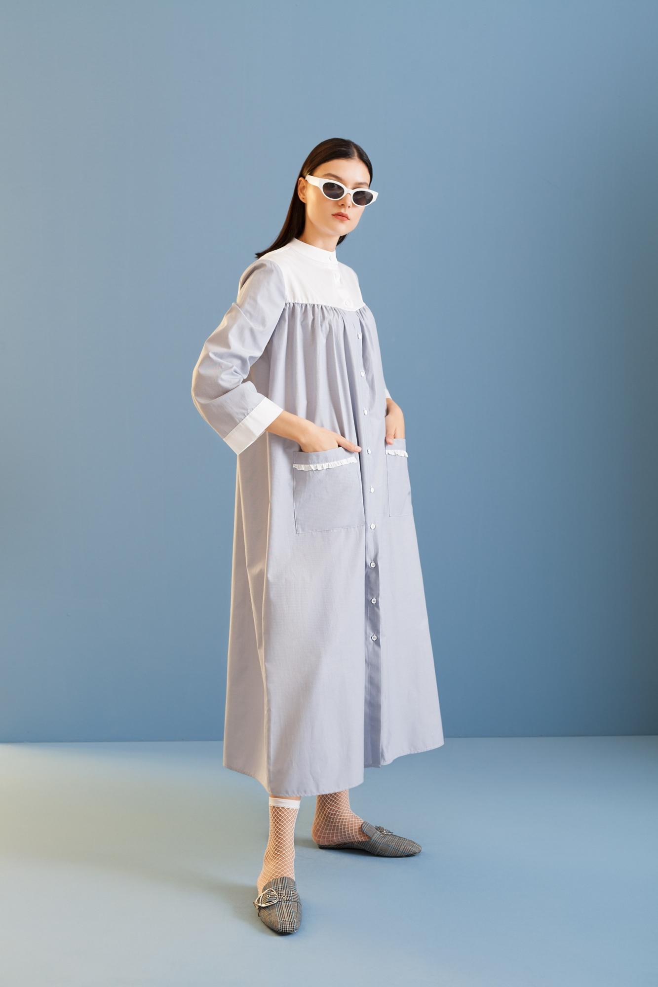 Kuaybe Gider - 2074 Elbise Gri