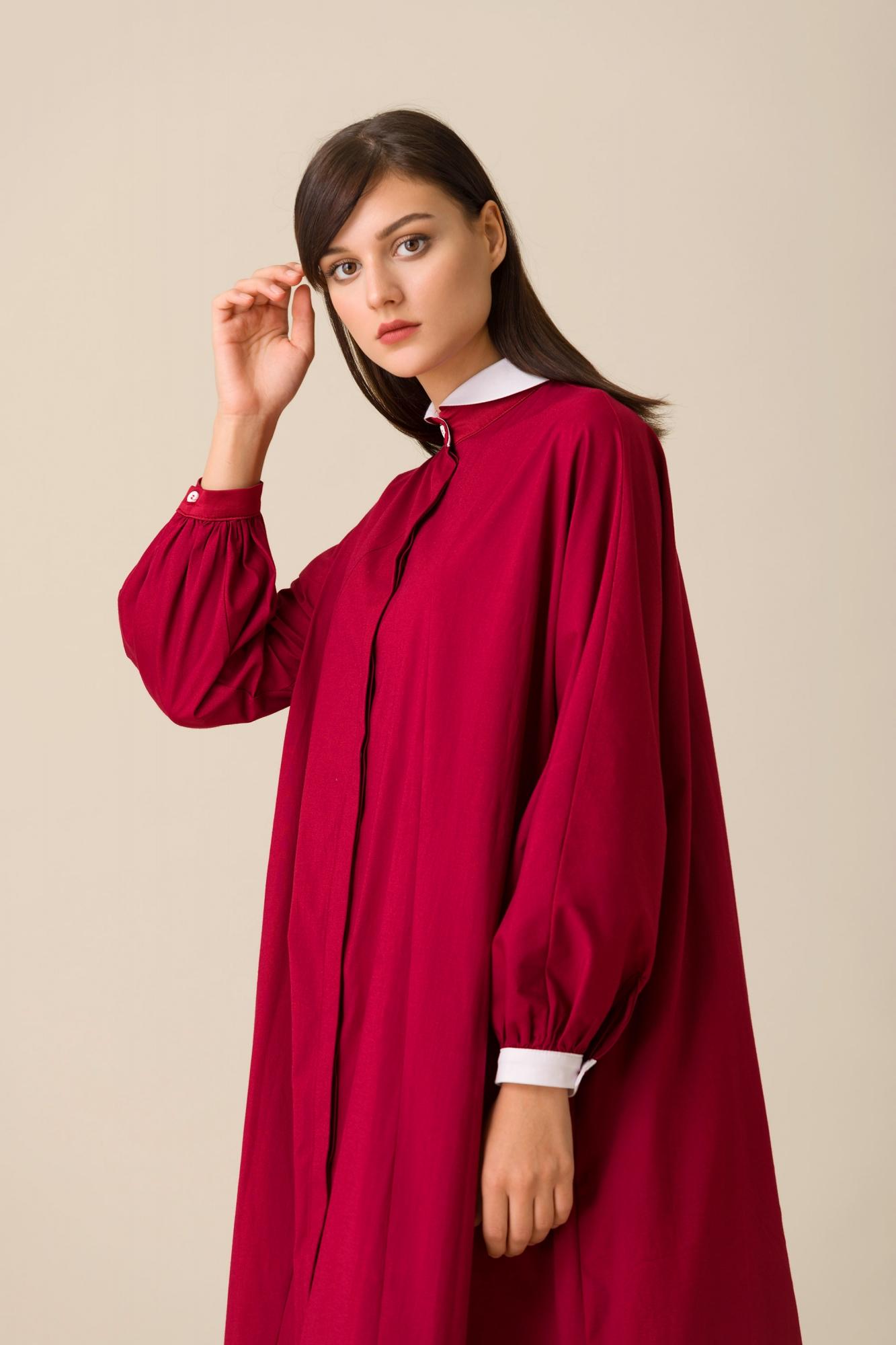 2079 Elbise Bordo