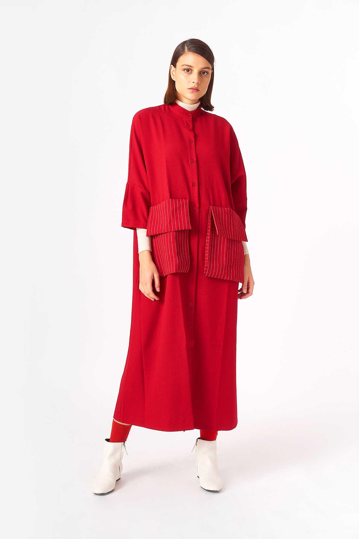 Kuaybe Gider - 2083 Elbise Kırmızı