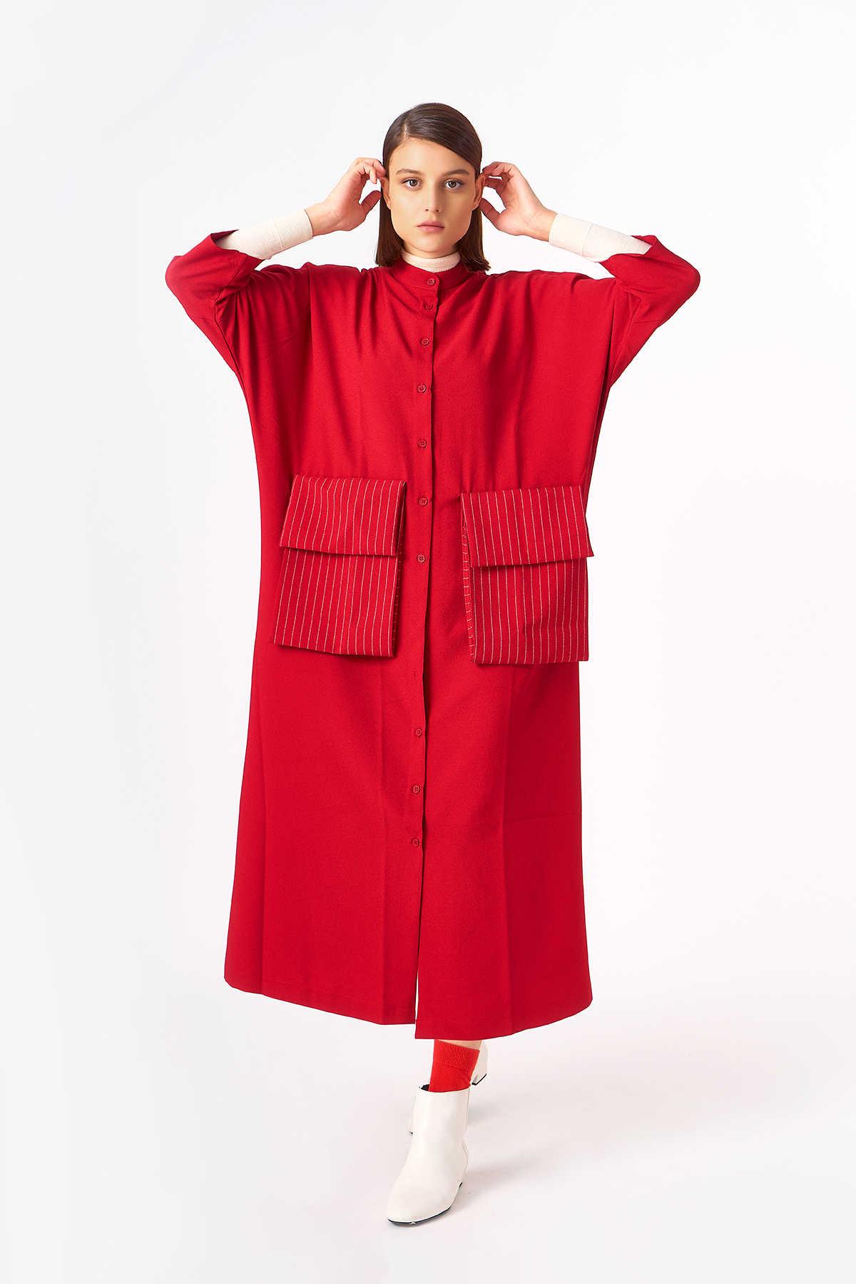 2083 Elbise Kırmızı