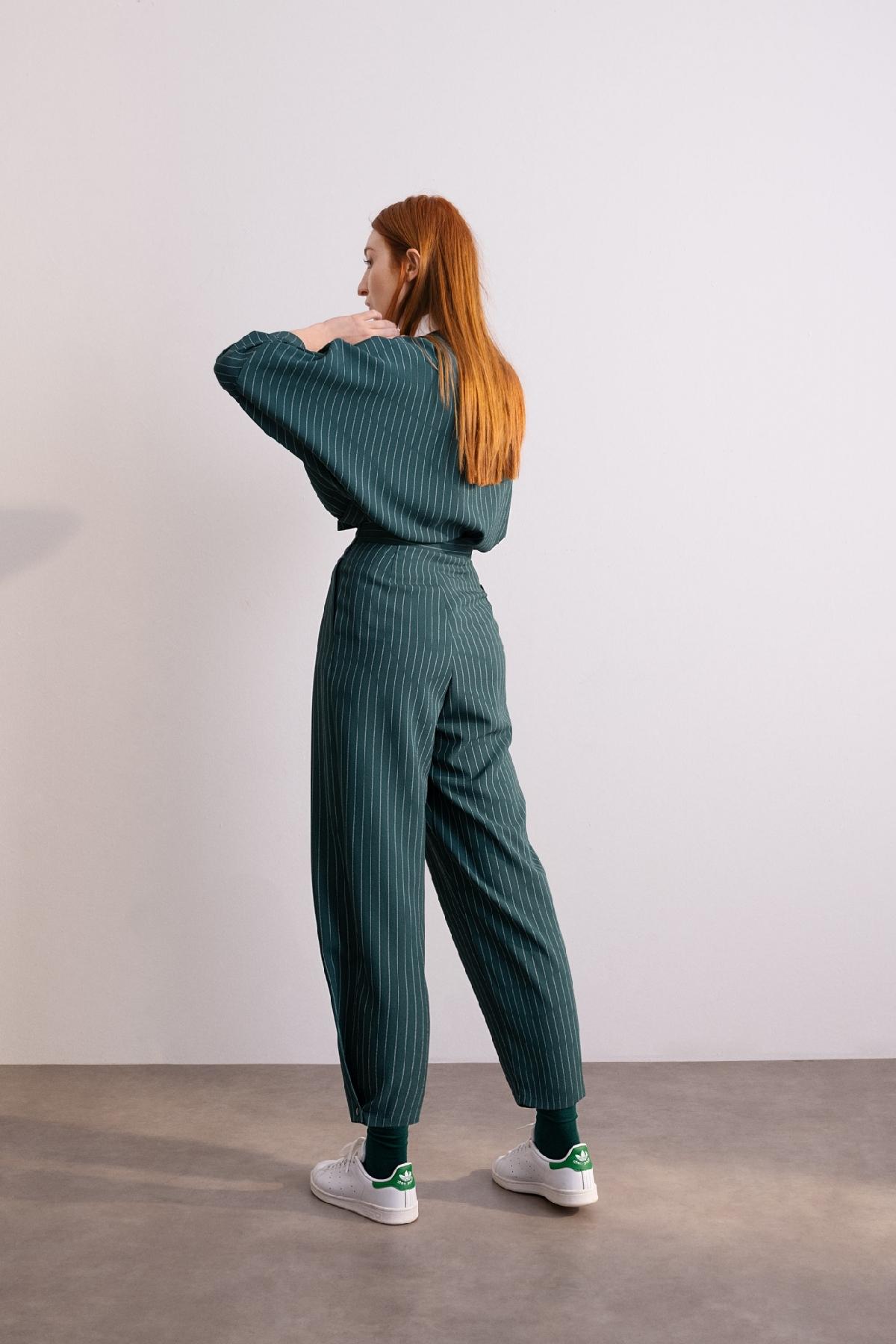 4055 Pantolon Yeşil