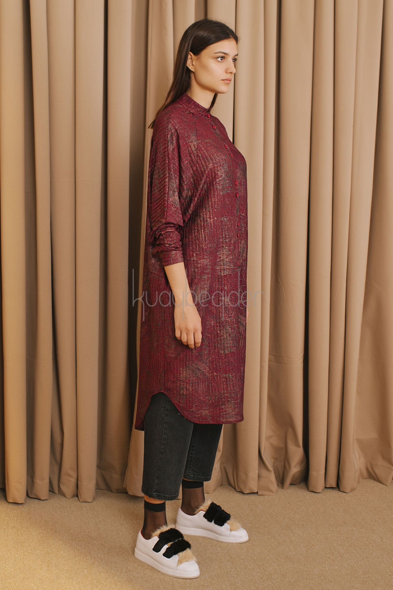 Kuaybe Gider - 5098 Tunik Bordo