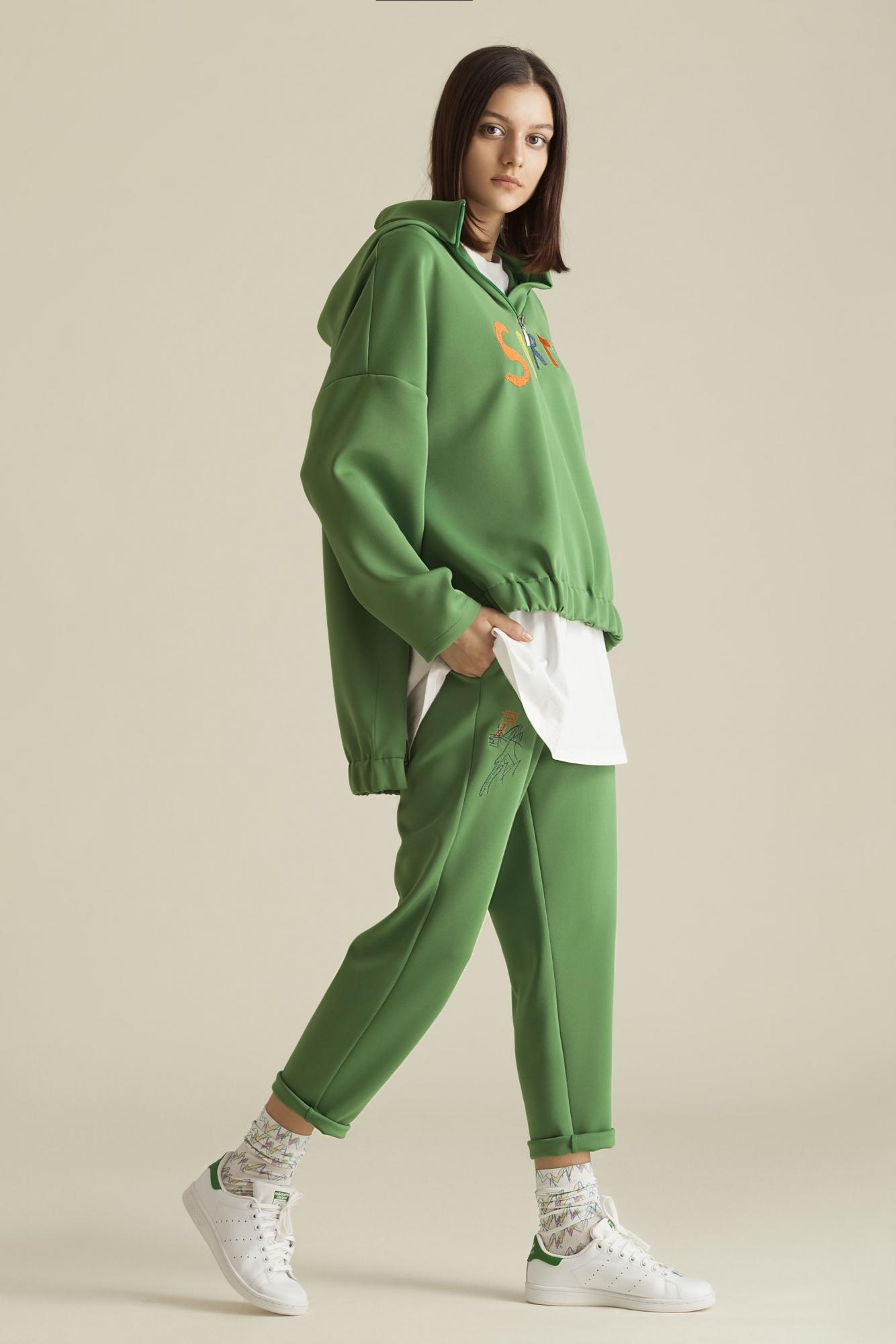 Kuaybe Gider - 5105 Sweat Yeşil