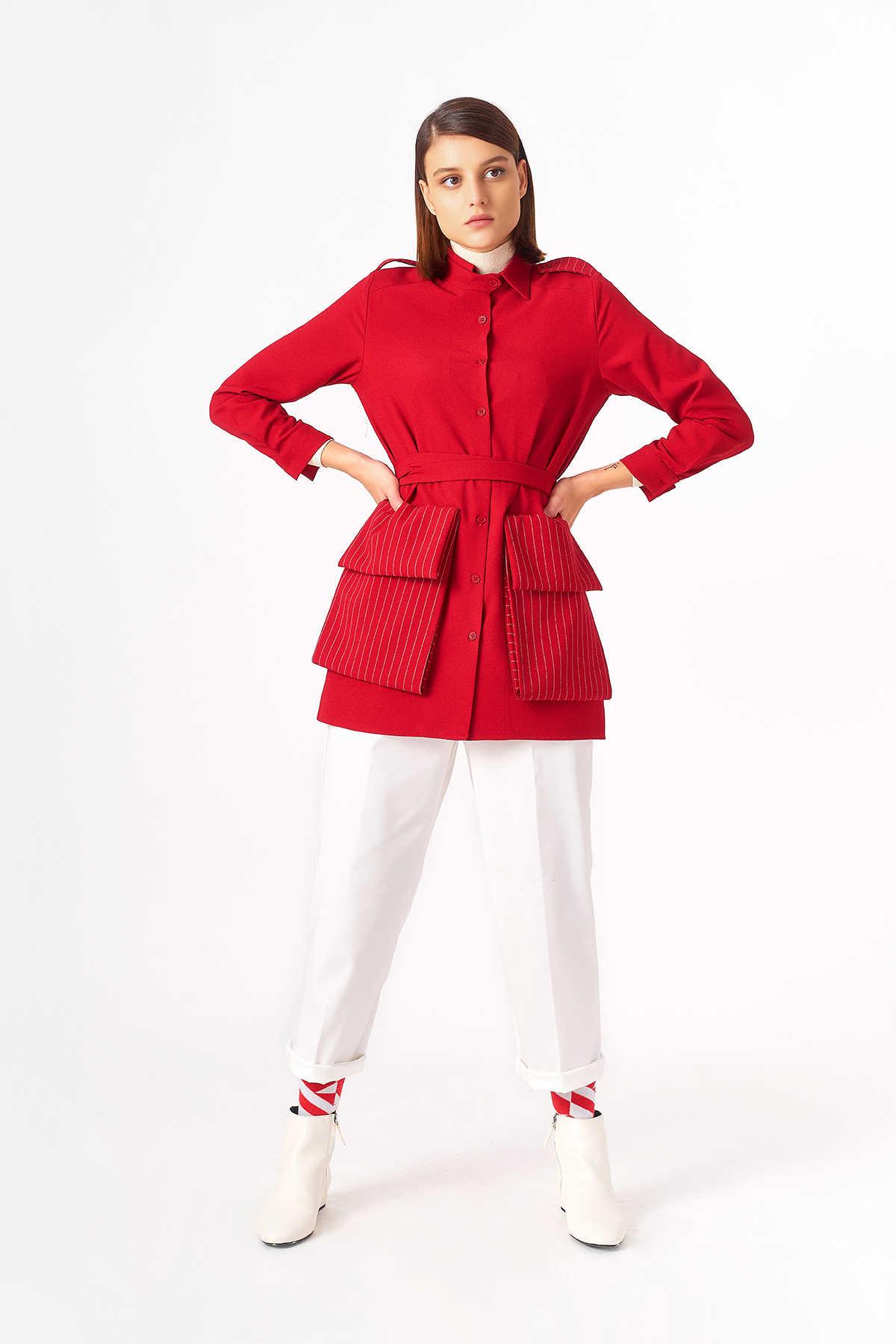 Kuaybe Gider - 5119 Tunik Kırmızı