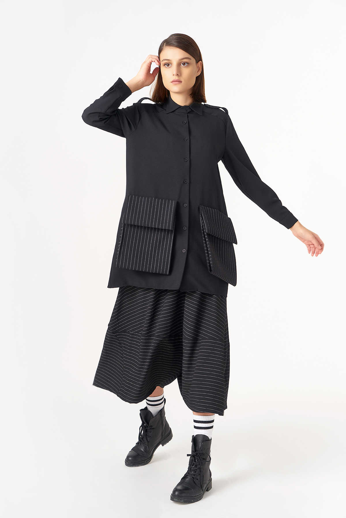 Kuaybe Gider - 5119 Tunik Siyah
