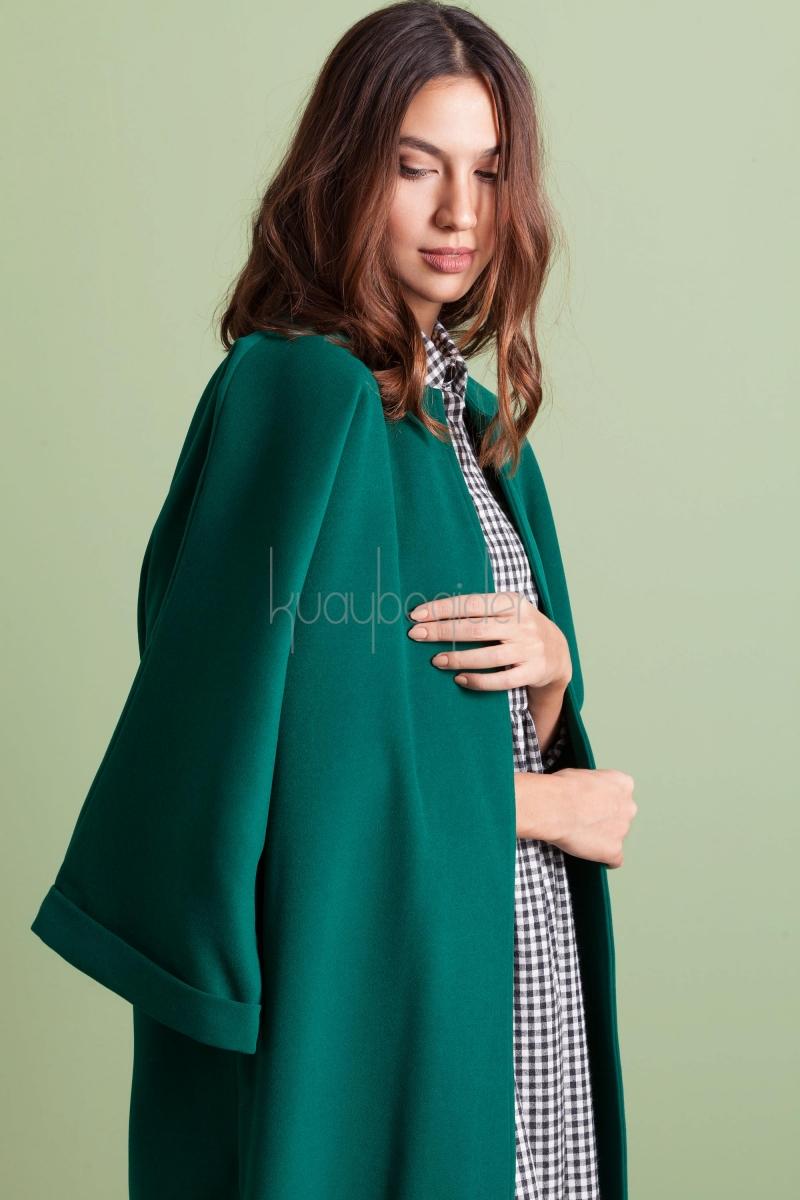 Kuaybe Gider - 7048 Yeşil Paradox Palto
